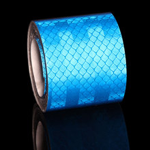 5CMX3M Blue Reflective Strip Car Stickers Reflector Trucks Motorcycle Safety Warning Reflective Tape Microprism Sticker speedwow 46m 1cm car reflective tape sticker auto motorcycle bike luminous strip whole body decoration safety warning stickers