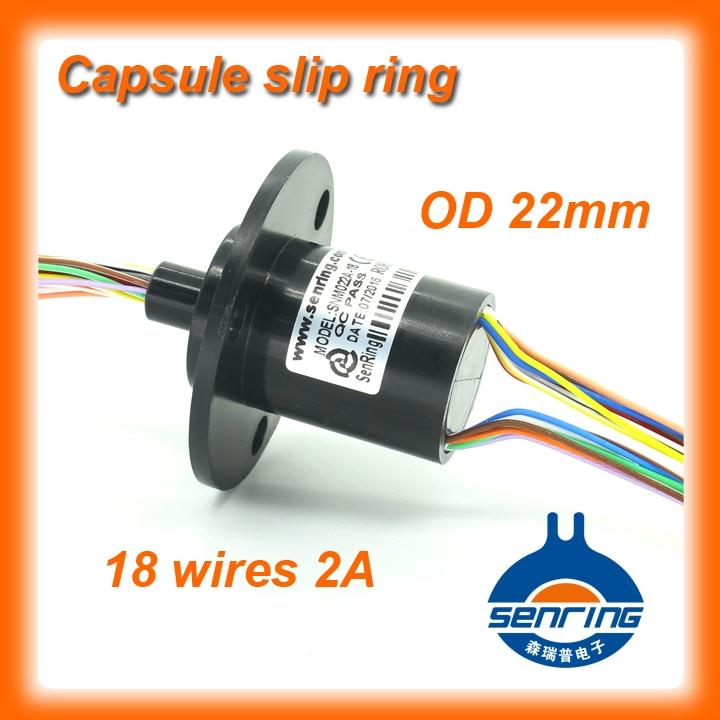 Electric Crane Capsule Slip ring OD 22mm 18 circuits 2A signal SENRING