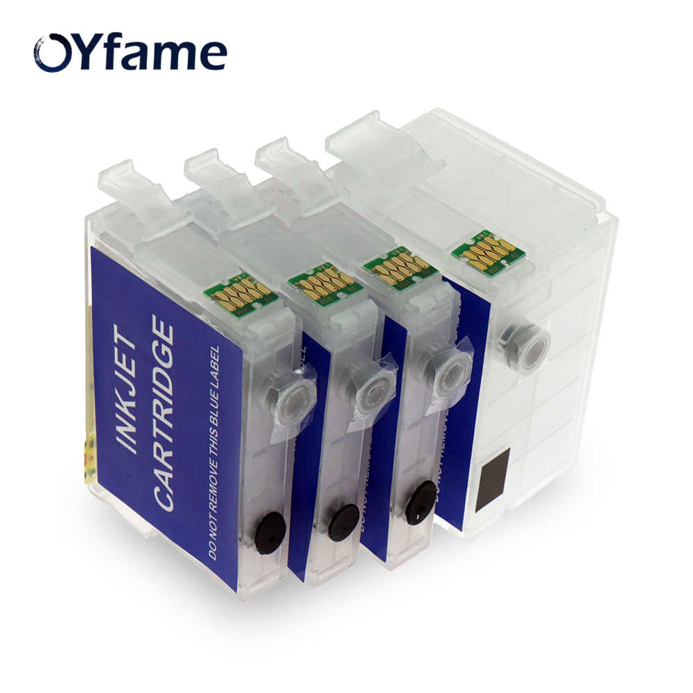 Oyfame untuk Epson 252XL 252 T2521 T252 T2521XL Isi Ulang Cartridge untuk Epson WF-3620 WF-3640 WF-7110 WF-7610 WF-7620 WF-7110 WF-5190