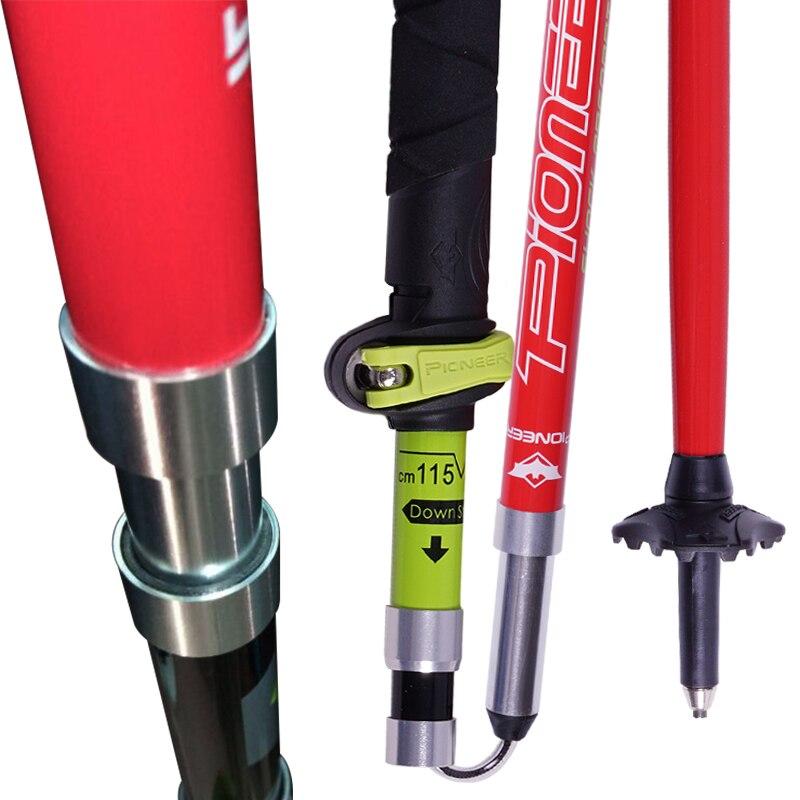 2 pack pionpack EER fibra de carbono Trekking polos ultraligero plegable Trail Running senderismo bastones ligeros bastones - 3