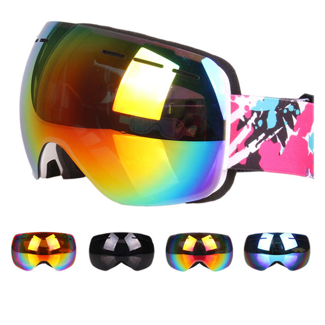 425b6e8aab69 Outdoor Snowboard Goggles Vintage Frameless Ski Goggles Mask Double  Anti-fog for Men Women Snowboarding Sports Skiing Glasses
