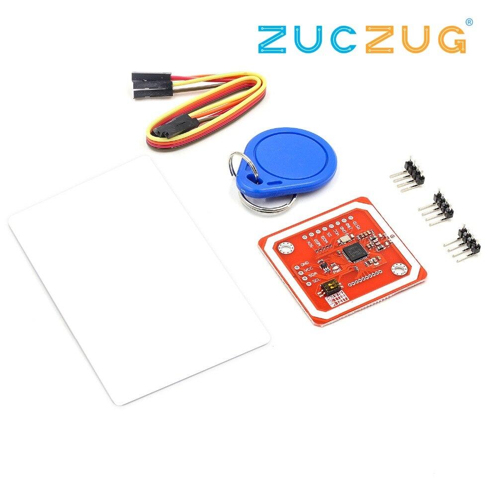 1Set PN532 NFC RFID Wireless Module V3 User Kits Reader Writer Mode IC S50  Card PCB Attenna I2C IIC SPI HSU For Arduino