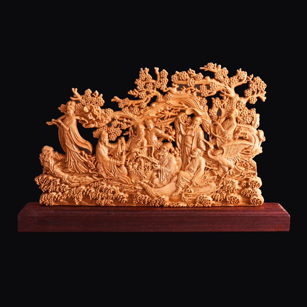Chinese Immortals Hot new the folk arts and crafts Boxwood Carving Home  Furnishing Articles  collection craft gift рыболовная сеть the eight immortals 33 10