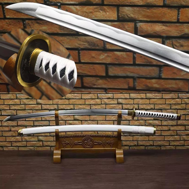 Free Shipping Handmade 1045Carbon Steel One Piece Roronoa Zoro Sword Meitou Wado Ichimonji Katana Sharp Supply