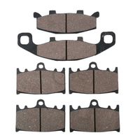 6 PCS Motorcycle Semi Metallic Sintered Rear Front Brake Pads For KAWASAKI ZR1100 ZR 1100 ZEPHYR