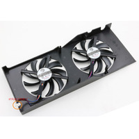 Free Shipping Radiator Computer Cooler DC BRUSHLESS FAN For CLUB 3D HD7850 HD7870 Video VGA Graphics