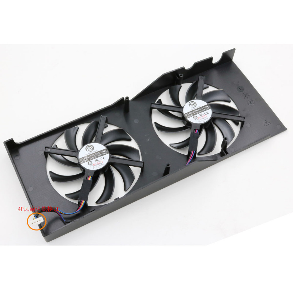 free shipping radiator computer cooler DC BRUSHLESS FAN for CLUB 3D HD7850 HD7870 video VGA Graphics Card cooling free shipping diameter 75mm computer vga cooler video card fan for his r7 260x hd5870 5850 graphics card cooling