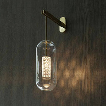Post Modern-Glass Gold Black Wall Lights Lamp Nordic Led Wall Sconce for Bathroom Bedroom Home Lighting Fixtures Decor Lighting недорого