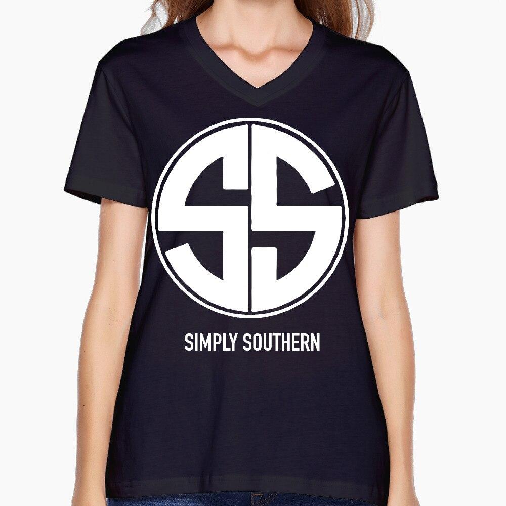 Design shirt v neck - 2017 Simply Southern Print Women V Neck Shirts Cool Cartoon Design Summer Workout
