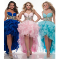 Custom Made Vestidos De Fiesta Pink/Blue/Royal Blue Beading Crystal Sexy Prom Dress Vestido De Debutante