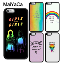 cfb6e04431a MaiYaCa Gay lesbiana LGBT Arco Iris TPU teléfono móvil funda para iPhone 6 6  S 7 8 Plus X XR cubierta trasera XS Max 5 5S SE