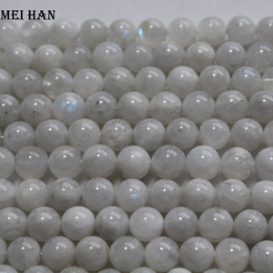Image 3 - Meihan wholesale (approx 38beads/set/53g/)  A+ 9.5 10.5mm natural moonstone smooth round loose beads for jewelry making design