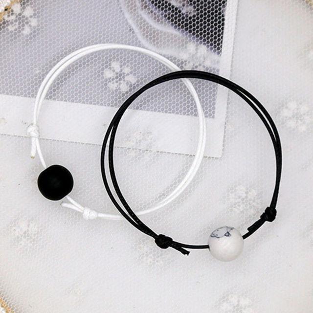 Duo Bracelet Couple Noir et Blanc