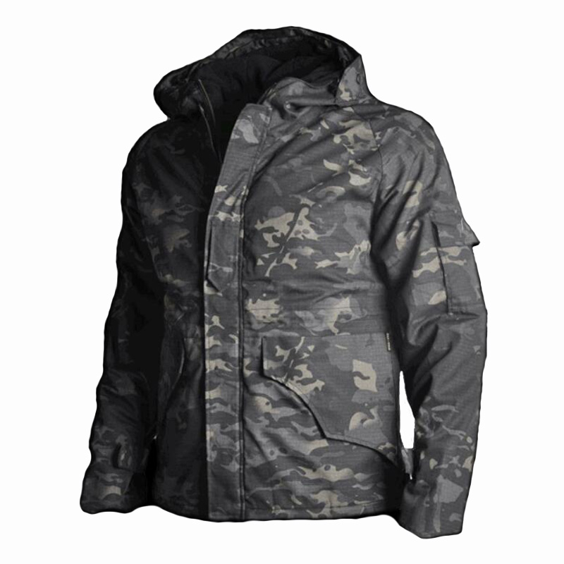 2019 New Sport Gear Outdoor Jacket Camouflage Hunting Clothes Men Tactical Military Uniform Windproof Keep Warm Windbreaker