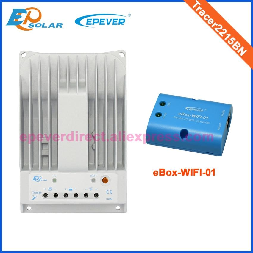 20A régulateur Solaire MPPT Tracer2215BN wifi boîte connecter wifi fonction pour 12 v 24 v auto travail