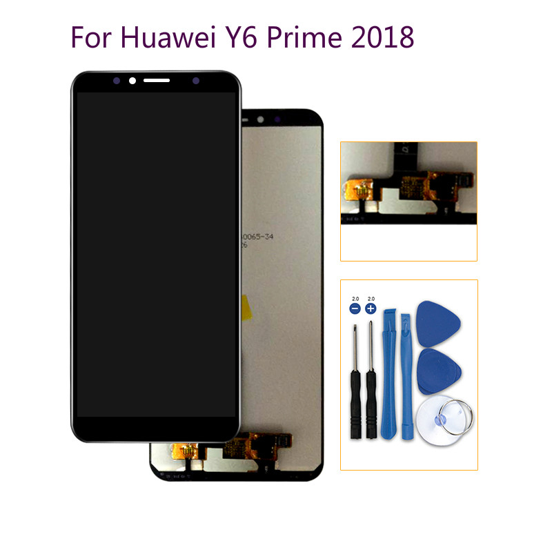 original 5 7 39 39 for huawei y6 prime 2018 lcd display atu. Black Bedroom Furniture Sets. Home Design Ideas