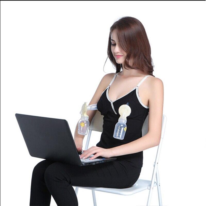Hands-free Breast Nursing Bra Maternity Strap Vest Breastfeeding Tops for Pregnant Women -17 S7JN