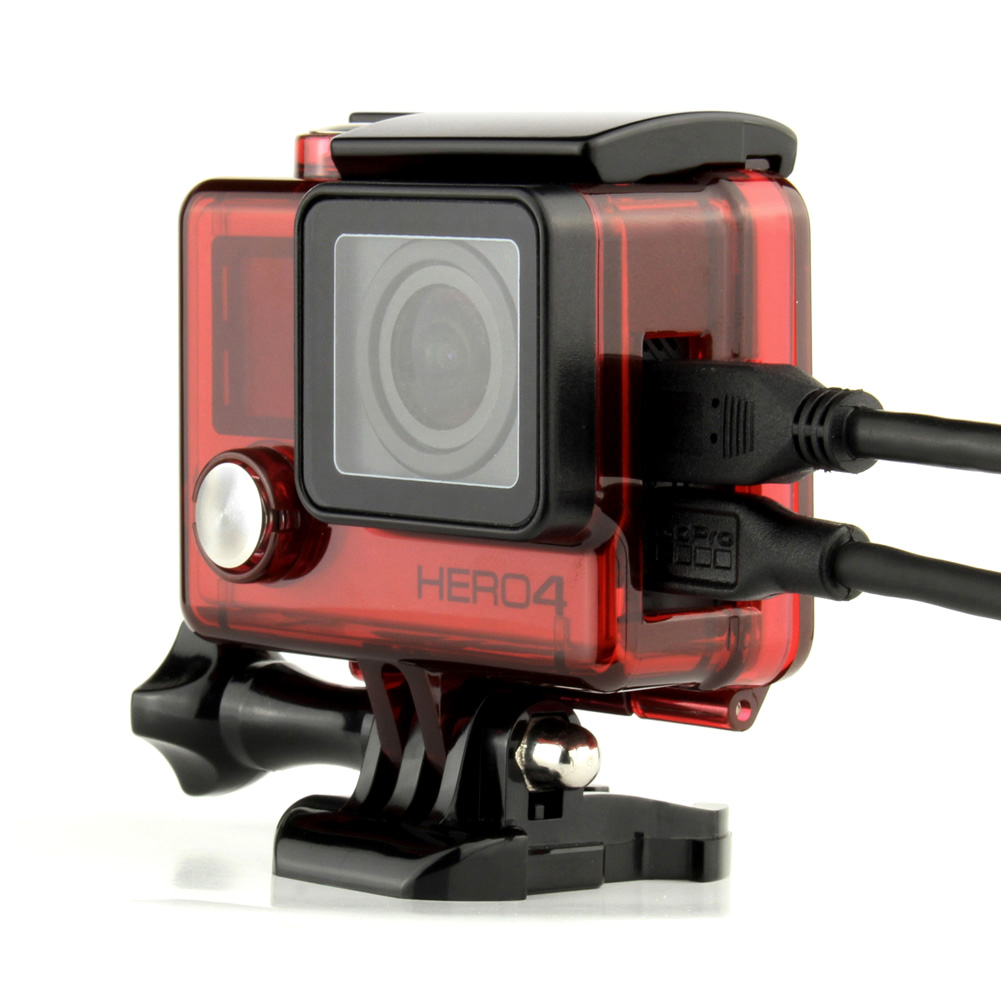 for gopro hero 4 3 protective skeleton housing case with. Black Bedroom Furniture Sets. Home Design Ideas