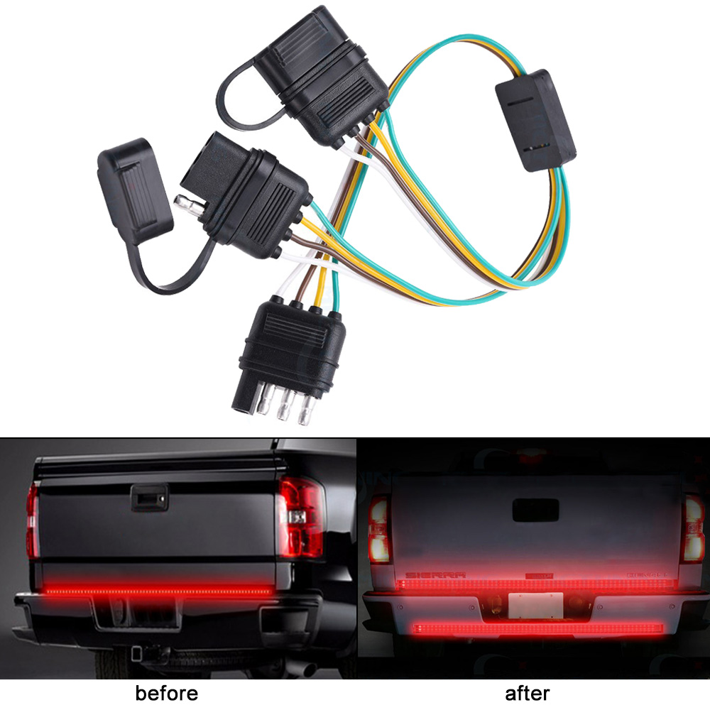 Lonleap Trailer Splitter 4 Pin Y Split Wiring Harness Adapter Connector LED  Light Strip With LED Achterklep Bar-in Cables, Adapters & Sockets from ...