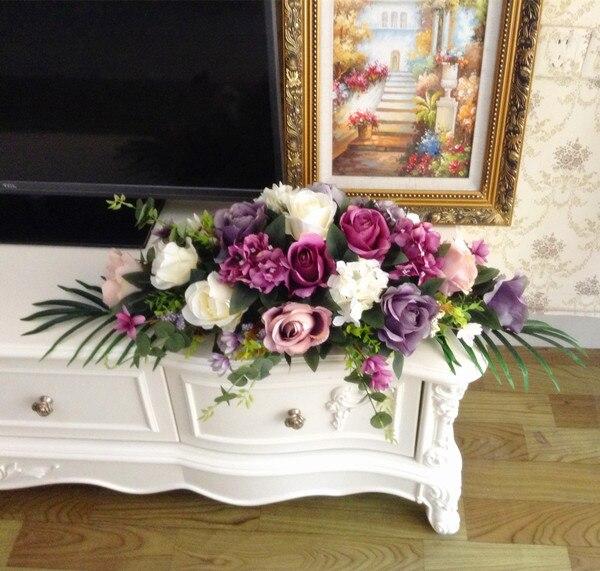 Hochzeit Tisch Blumen Lila Künstliche Blumen Hause Dekoration