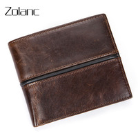 Zolanc Super Discount Men S Wallet Leisure Cowhide Genuine Leather Clip Men Short Design Purse Clutch