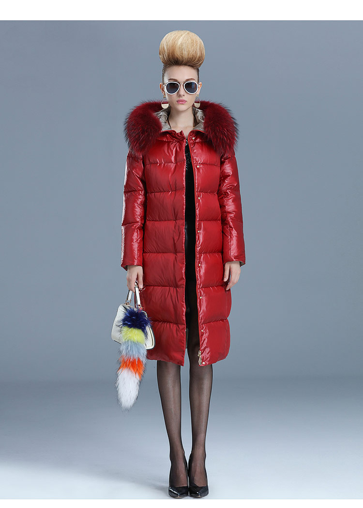 Winter Thickening 2017 Over-the-knee With A Hood Down Coat Medium-long  Large Luxury Fur Collar Outerwear Women Coat цены онлайн