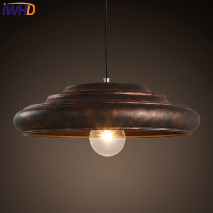 IWHD Iron Vintage Industrial Lighting Pendant Lights American Style Loft Retro Hanging Lamp Kitchen Bar Home Lighting Fixtures american retro pendant lights luminaire lamp iron industrial vintage led pendant lighting fixtures bar loft restaurant e27 black