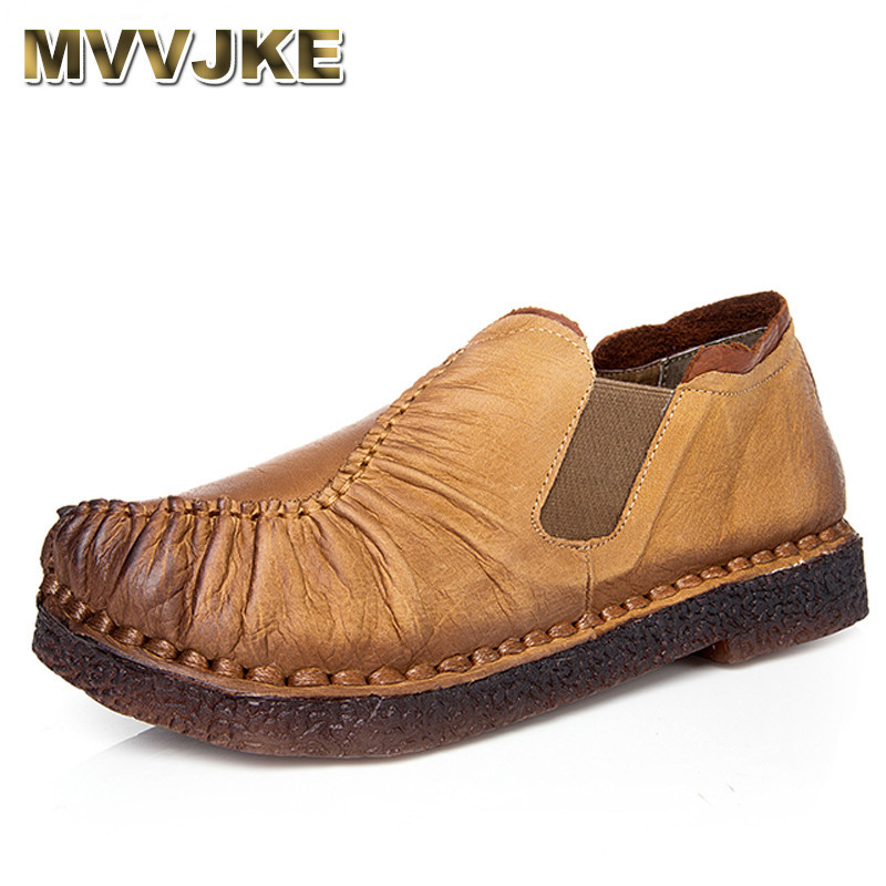 MVVJKE  Genuine Leather Flats Shoes Pleated Womens Woven Flats Shoe Comfortable Original Shoes For Driving Ladies MVVJKE  Genuine Leather Flats Shoes Pleated Womens Woven Flats Shoe Comfortable Original Shoes For Driving Ladies