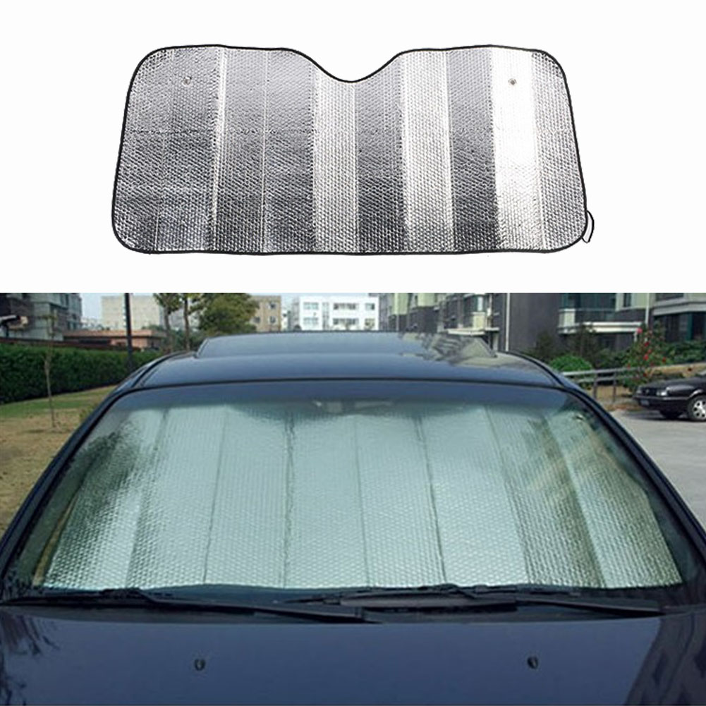 Foglio di alluminio Auto Parabrezza Coperchio di Protezione Della Copertura Del Sole, pieghevole 130*60CM Auto Parabrezza dello schermo di Sun Visor Coperchio di Protezione