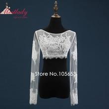 Sexy Sheer Real Samples Wedding Bolero Long Sleeves Plus Size Bridal Jacket  Zipper Wedding Bolero Wedding b36fc32d6