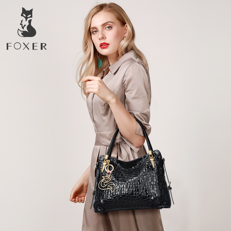 Ultimate DealÉFOXER Luxury Bags Tote-Purse Shoulder-Bag Female Genuine-Leather Women Lady for Sequin-Cowhide