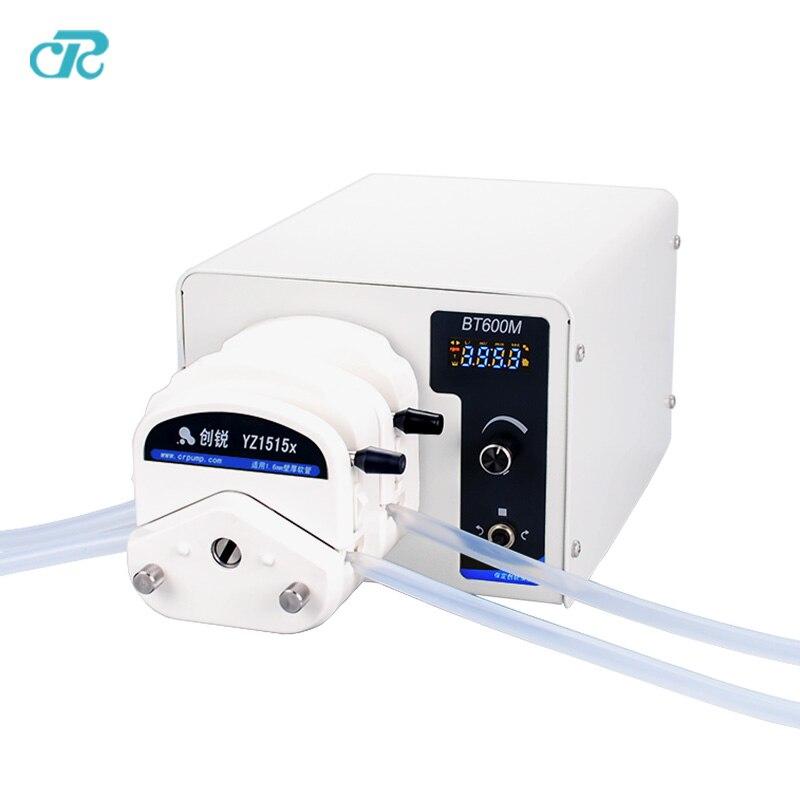 Péristaltique tuyau pompe Double Canaux variable vitesse BT600M/YZ1515X pour le transfert de liquide