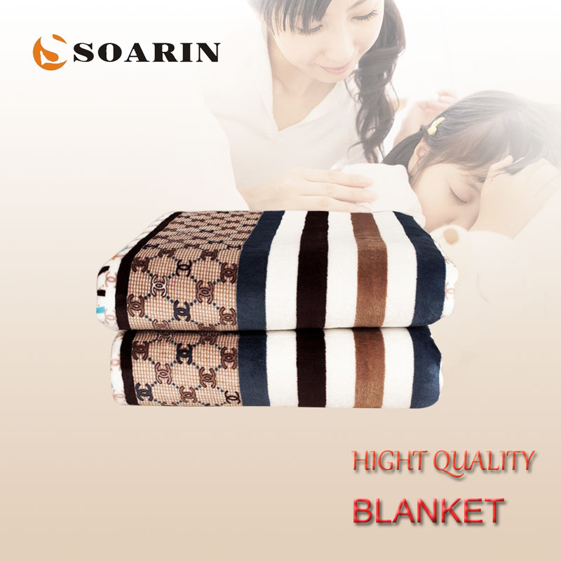 SOARIN Electric Blanket Single Falnnel Electric Heating Blanket 150x80 Electric Carpet Heated Blanket Mattress Manta Electrica