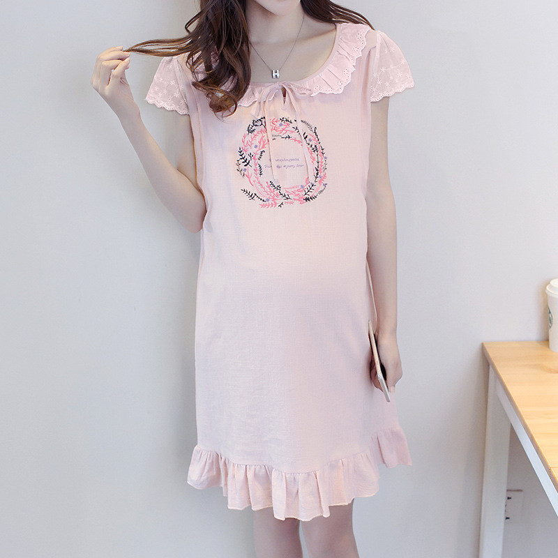 Brand Pregnant Woman Casual Dress for Female Girls Clothes 2018 Postpartum Nursing Feeding And Breastfeeding Outing Costume