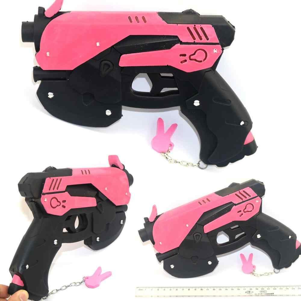เกมอะนิเมะ OW คอสเพลย์ Props D. คอสเพลย์อุปกรณ์เสริม DVA คอสเพลย์ Prop PVC ของเล่นปืนพกหมวกปืนอาวุธ 27 ซม. * 19 ซม.