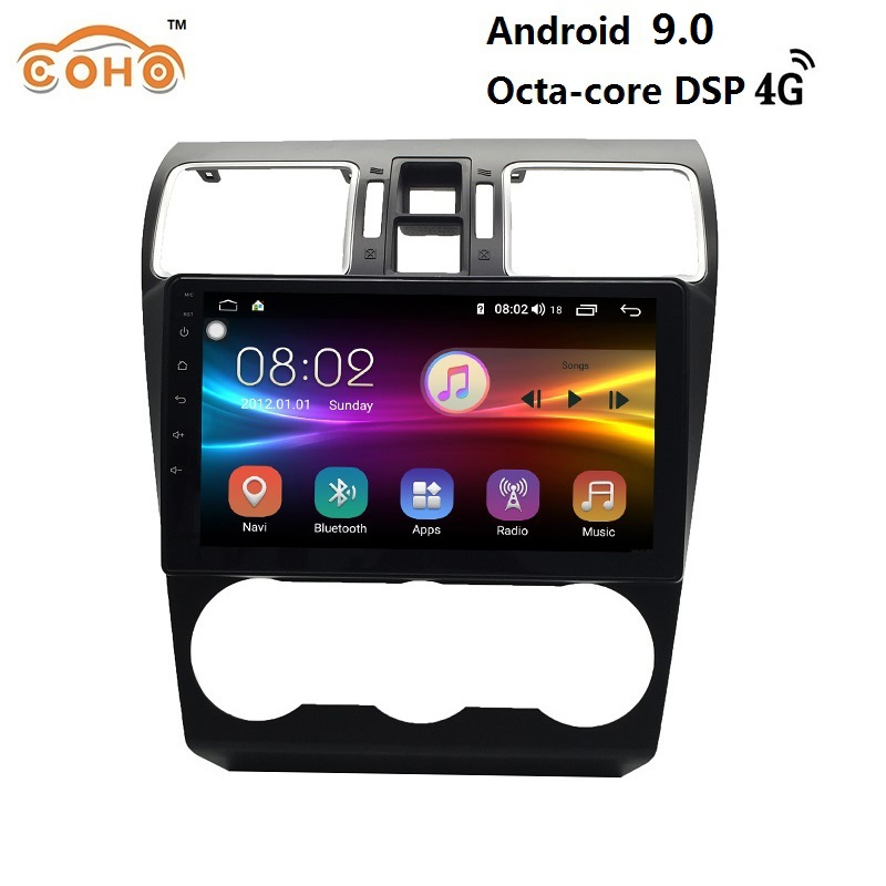 1 din android 9.0 8-core 4+64G IPS Screen car radio gps navigation Multimedia Player for Subaru WRX image