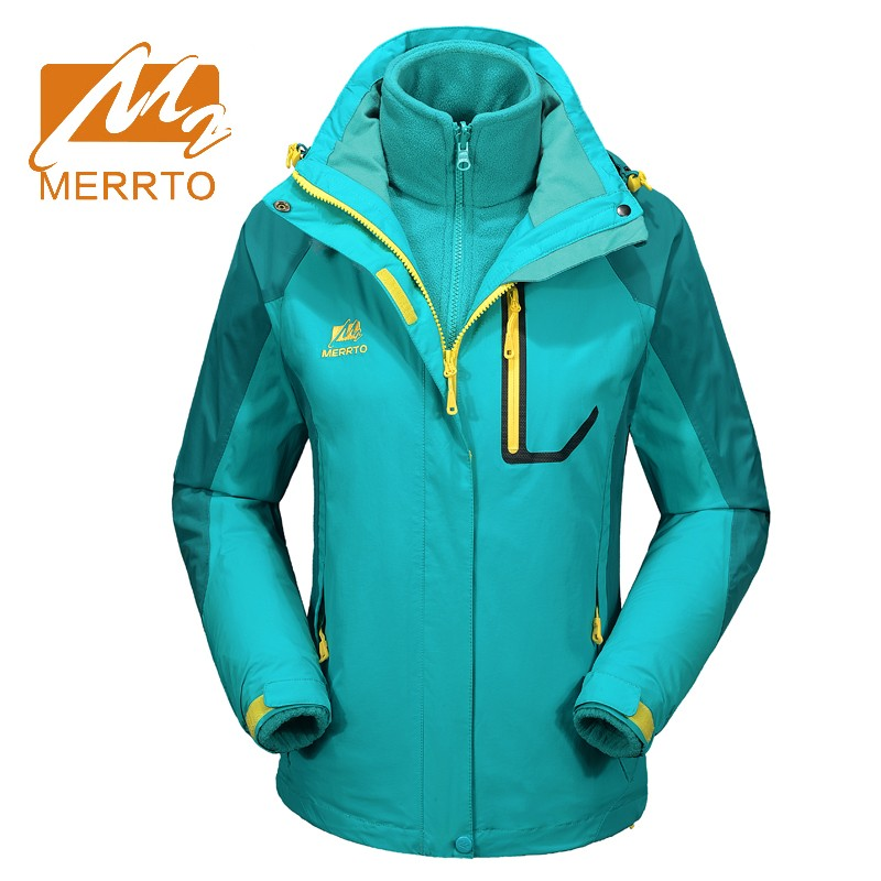 2018 Merrto Womens Hiking Sports Jackets Warmth Outdoor Jackets Waterproof Windproof Camping Jackets Free Shipping MT19017 2017 merrto womens fleece hiking jackets mountain clothing thermal color blue pink rose green for women free shipping mt19155