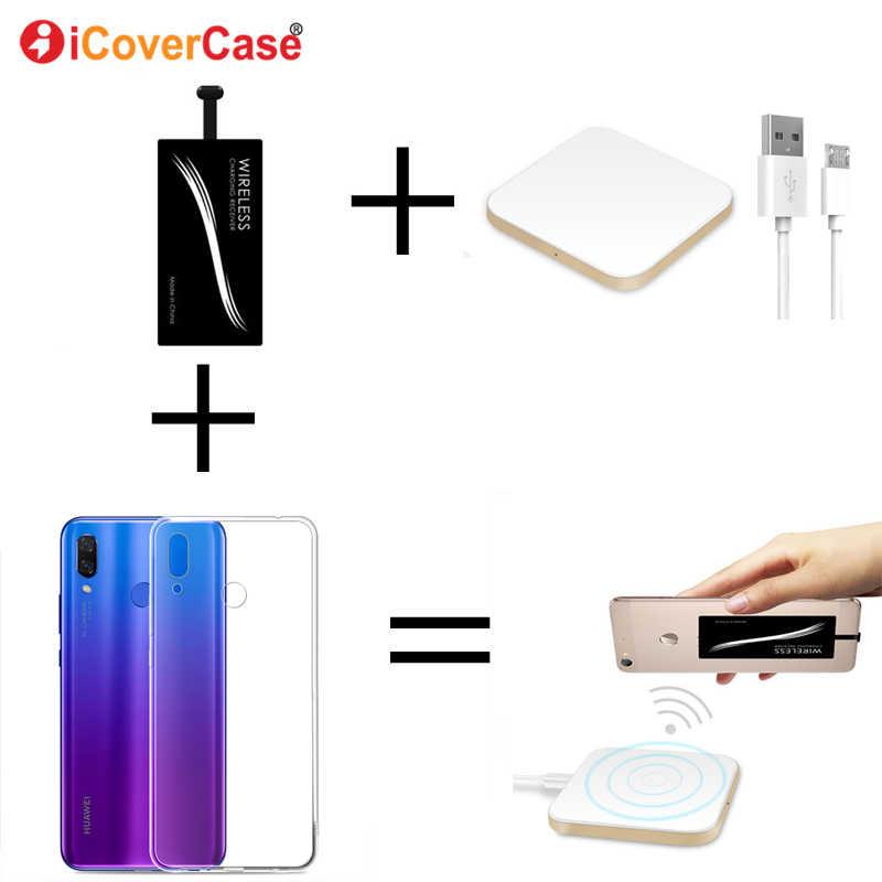 Qi Беспроводное зарядное устройство power Bank для Huawei Honor 9 Lite 9 8X Max Note 10 TPU чехол зарядная площадка беспроводной зарядный приемник Chargeur