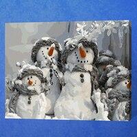 فرملس الثلج عيد diy الطلاء بواسطة عدد الرقمية الاكريليك الطلاء مجردة الحديثة جدار الفن قماش اللوحة ل ديكور المنزل