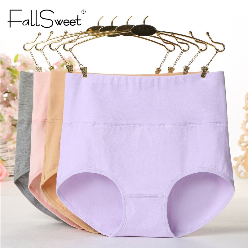 FallSweet Women Tummy Control   Panties   High Waist Cotton Briefs M to XXL Comfortable Underwear
