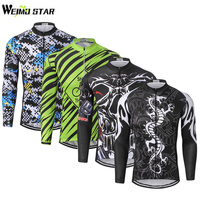 WEIMOSTAR Pro Team Outdoor Breathable Men S Cycling Jersey Ropa Ciclismo Bike Long Sleeve Bicycle Clothing