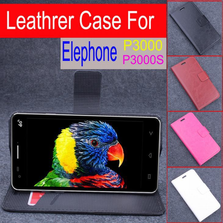 High Quality Leather Case For Elephone P3000 P3000S Flip Cover Case With Card Slot housing ELE P 3000 P 3000S Phone Cover Cases