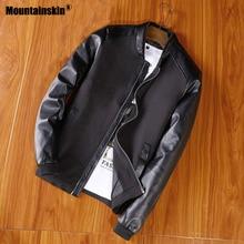 Mountainskin New Jacket Men's PU Patchwork Jackets Spring Au
