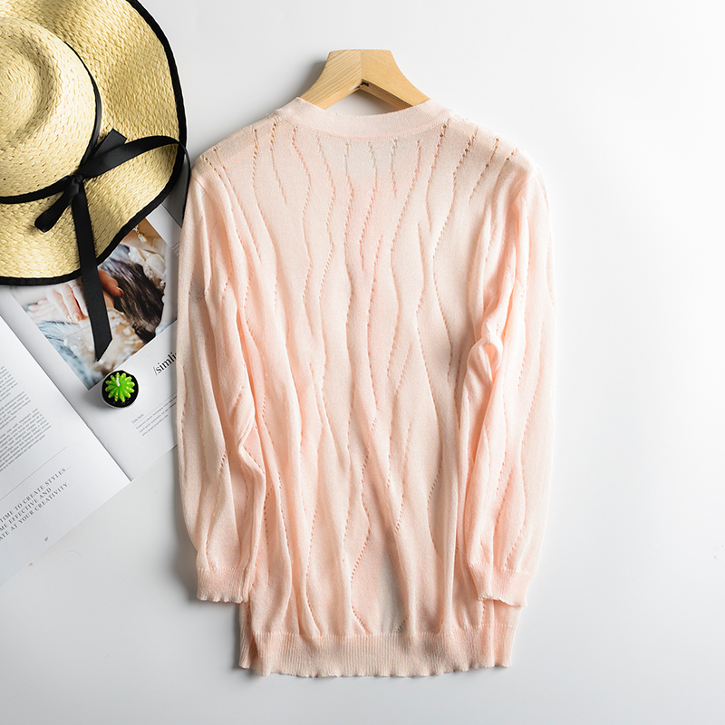 Nate Hakuna 2018 Spring/Summer New V-Neck Women Ice Mass Cardigan Knits Full Sleeve Soft Female Sweater Women Knitting Cardigan