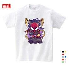 NEW Boys Spiderman Ironman Captain America T shirt Summer Short Sleeve Superhero Tee Kids Cotton boys summer clothes
