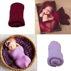16 couleurs nouveau-né Photographie accessoires coton Photo Wrap tissu Fotografie Achtergronden pour infantile Accessoire bandeau Photographie