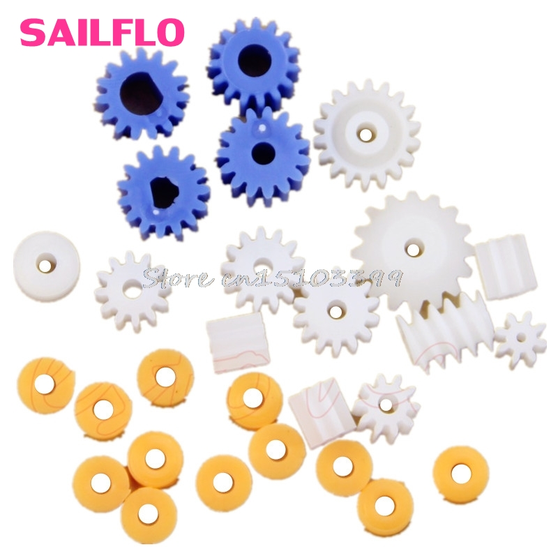 16 Kinds Plastic Shaft Gears Spindle Gears Gear-B 2MM 2.3MM 3MM 3.17MM 4MM Worm G08 Drop ship ...