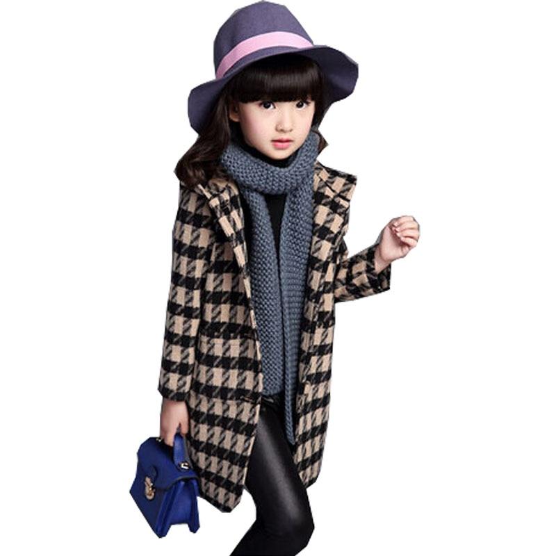 Aliexpress.com : Buy New Girls Winter Coats Fashion Plaid Long ...