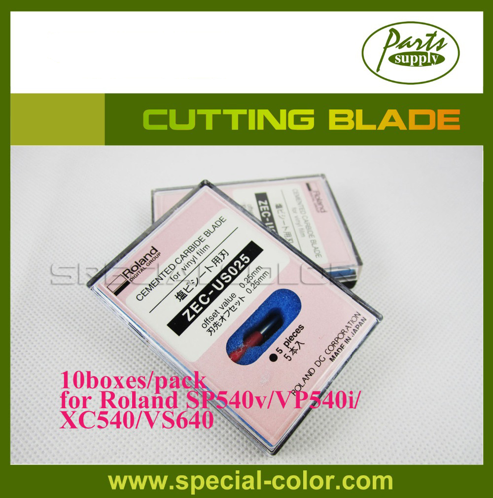 10boxes/pack 45 degrees Roland Cutting Blade for Cutting Plotter SP540v/VP540i/VS640/XR-640 [ZEC-US025] roland standard cutting blade zec u1005 for printer