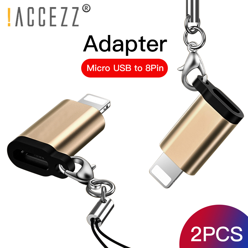 !ACCEZZ OTG Adapter Micro USB To 8 Pin Lighting For Iphone X XS MAX XR 7 8 6S 6 Plus Phone Data Sync Charger Converter Connector